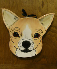 """Nina Lyman """"RESCUE ME NOW"""" #45372 PEANUT Chihuahua Plate, NEW from Retail Store"""