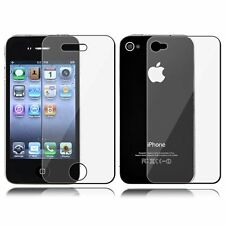 OF SCREEN PROTECTOR SHEET FOR FRONT & BACK APPLE iPHONE 4S 4  - 2 SETS