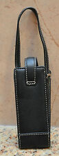 COACH Wristlet Black Leather Cell Phone Eyeglass Holder