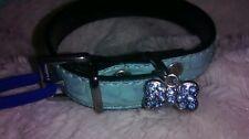 Ancol Ex Small Blue Moc Croc Puppy Dog Collar Lead Set