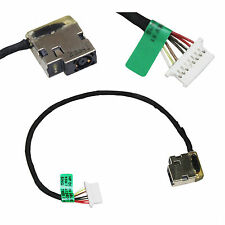DC POWER JACK Connector Harness Cable For 15-ab204cy 15-ab285tx 15-ab522tx