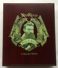NEW Ned Kelly Treasure Chest Coin Display Case Cabinet Holds 3 x 40mm Coins Box