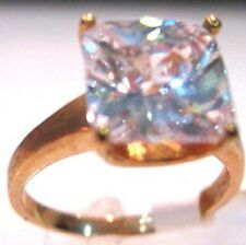 5c Cushion Checkerboard Cut Solitaire Cz Cubic Zirconia Cocktail Jewelry Ring 10