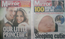 ROYAL BABY GEORGE & CHARLOTTE.WILLIAM & KATE.MIRROR NEWSPAPERS.23-7-2013.3-5-15
