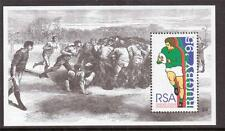 SOUTH AFRICA, 1995 RUGBY WORLD CUP MIN SHEET, SG 878, MNH