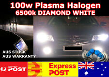H4 100w SUPER BRIGHT WHITE 6500K Halogen Globes w/ HD Ceramic Wiring Harness