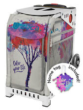 ZUCA Bag COLOR YOUR LIFE Insert & White Frame w/Flashing Wheels - FREE CUSHION