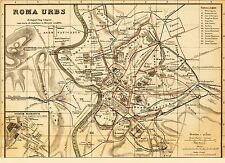 MAP ANTIQUE KIEPERT 1903 ROMA URBS CITY PLAN LARGE REPLICA POSTER PRINT PAM0968