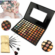 88 Eyeshadow Rainbow Eye Shadow Pro Cosmetics Makeup Palette +Brushes Tool Set