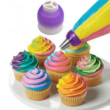 Icing Piping Bag Nozzle Converter Tri-color Cream Coupler Fondant Cookie 3 Hole