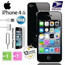 "Apple iPhone 4S 16GB GSM ""Factory Unlocked"" Smartphone Mobile Black White US"