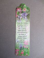 BOOKMARK MICHELLE Name Meaning New Gift Birthday Christmas Thankyou Valentine