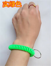 Spiral Wrist Coil Key Chains / New in Sealed Bag / Free shipping Dark green A15