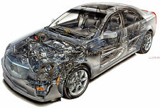 CADILLAC CTS-V CUTAWAY CAR POSTER PRINT PICTURE