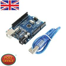 NEW ATmega328P CH340G UNO R3 Board & USB Cable +7 Gilded Pin for Arduino DIY GT