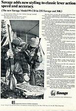 1975 Print Ad of Savage Model 99-CD Lever Action rifle