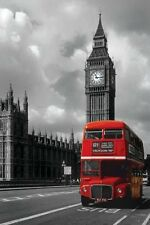 London Red Bus Big Ben Photography Poster Print Wall Art Home Decor England