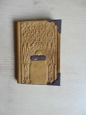 Miniature book, leather-bound blank notebook with French calendar 1839, pencil