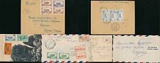MARTINIQUE to FRENCH GUIANA 1945 PPC + CENSORED COVERS...3 ITEMS