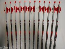 Easton Bloodline 400 Hunting Carbon Arrows! Crested/Dipped Bohning Blazer Vanes
