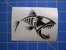 Fish Skeleton Vinyl Decal - Sticker 4x3 - Any Color