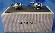 CUFFLINK SET - FISHING REELS - IDEAL ANGLING PRIZE TROPHY FISHERMANS GIFT CK302A
