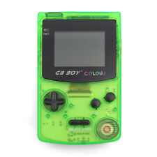 "GB Boy Colour Handheld Console for Gameboy Color Game 2.7"" Backlit Crystal Green"