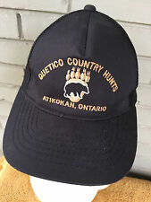 Quetico Country Hunts Atikokan Ontario Baseball Cap Hat Mesh Snapback Bear Moose