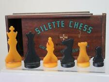 "ANTIQUE/VINTAGE CHESSMEN SET ""CRAYS OF CAMBRIDGE""CATALIN SILETTE + ORGINAL BOX"