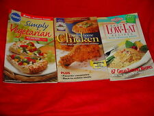 PILLSBURY SIMPLY VEGETARIAN COOKBOOK PLUS 2 OTHERS FREE USA SHIPPING