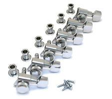 Schaller Chrome LOCKING 6 Inline Tuners for Strat/Tele® Guitar TK-0974-010