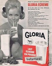 Publicité Advertising 066 1965 Gloria lait écrémé