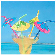 20PC 3D Paper Umbrella Cocktail Drinking Straws Party Bar Holiday Party Beach