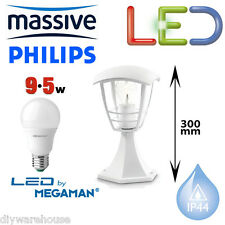 PHILIPS MASSIVE MY GARDEN CREEK LED 9.5W PILLAR TOP LIGHT WHITE PEDESTAL MODERN