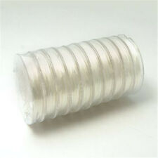 10Rolls White Strong Stretchy Beading Elastic Wire Findings 0.8mm about 10m/roll