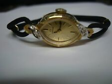 Vintage Womens 14kt Gold and Diamond Omega Watch