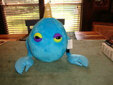 LADY GAGA'S WORKSHOP UNIQUE LARGE PLUSH BLUE MONSTER FROM  BARNEY NEW YORK