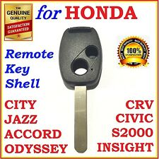Honda Accord/CRV/Civic/City/Jazz/Odyssey/S2000 2 Button Key Remote Case/Shell