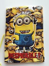 Girl Boy Kids Child Minions Passport Case Protector Cover Easter Birthday Gift