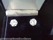 *LCS  DIAMOND STUD EARRINGS SZ  8 MM 3.00CTW  ** MUST 2  QUANITY  purchase