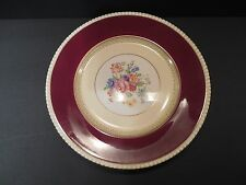 Vintage SOHO POTTERY AMBASSADOR WARE RED YELLOW BANDS GOLD TRIM DINNER PLATE