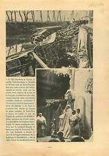 Crash Train Paris-Hendaye Saint-Paul-lès-Dax les Landes France 1937 ILLUSTRATION