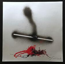 Emilio SCANAVINO - Serigrafia su superficie argento. 60x60 cm. 100 ex. Con Aut.