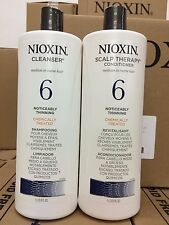Nioxin System 6 Noticeably Thinning Hair Cleanser & Scalp Therapy Conditioner...