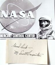 Scott Carpenter Original Mercury Seven Astronaut Autograph Authentic