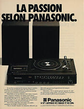 PUBLICITE ADVERTISING 094  1979  PANASONIC  chaine stéréo combi