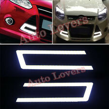 ★2Pcs Waterproof White Cob Car DRL U Shape Fog Lamp Day Light 6000- Skoda Rapid★