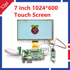 "7"" inch 1024*600 LCD Display for Raspberry Pi HDMI+VGA+Driver Board+Touch Screen"