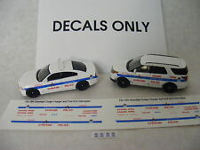 Chicago Police 1/64 Waterslide Decals fits Charger or Ford SUV Interceptor 1/64