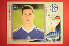 PANINI CHAMPIONS LEAGUE 2012/13 N. 113 DRAXLER SCHALKE 04 BLACK BACK MINT!
